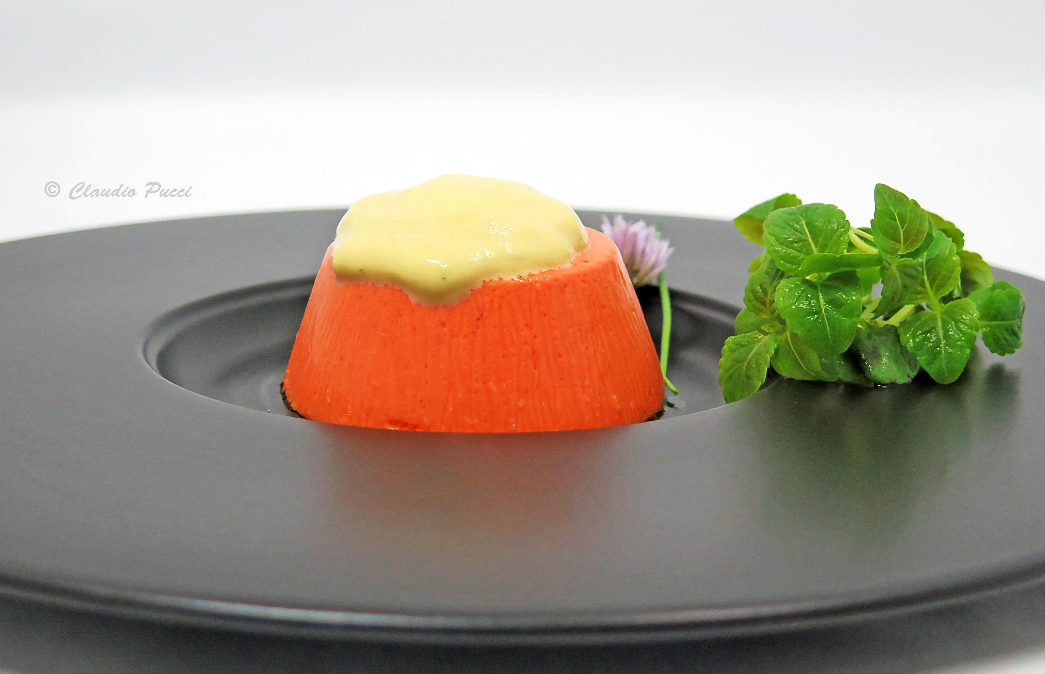 Budino di peperoni con spuma alla bagna cauda – Il Ricettario