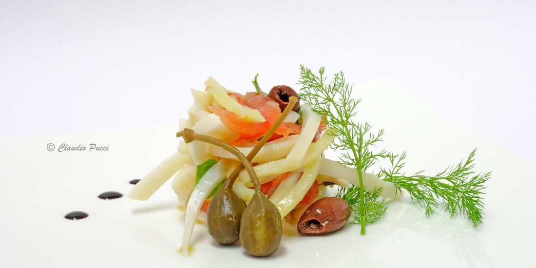 Insalatina di seppie,patate e olive taggiasche