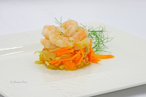 Gamberi con verdure agrodolce 8-10-15+ ass chiarezza