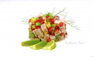 Spada e peperoni marinati al lime 1