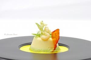 Budino di gamberi e zucchini con zafferano