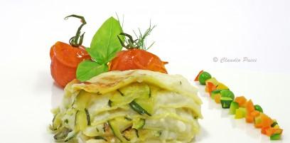 Lasagne con pescatrice e zucchini
